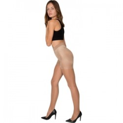 Panty Licra 40 Den Reductor Push Up Lote De 2 Color Beige M