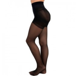Panty Licra 40 Den Reductor Push Up Lote De 2 Color Negro M