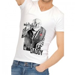 Camiseta Divertida Who Is Your Daddy XXL